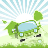Zielony Samochód Fotografia Stock