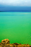 Zielony Seascape Fotografia Royalty Free