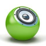 Zielony sfera mówca Obraz Royalty Free
