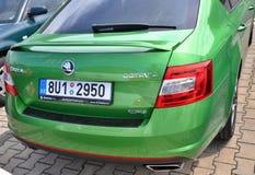 Zielony Skoda Octavia RS Fotografia Stock