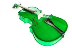 zielony skrzypce Zdjęcia Royalty Free