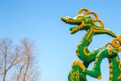 zielony smok posąg Obraz Royalty Free