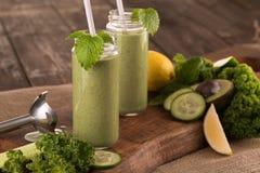 zielony smoothie Zdjęcia Stock