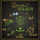 zielony smoothie ilustracji
