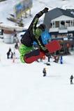 zielony snowboarder muchy zdjęcie stock