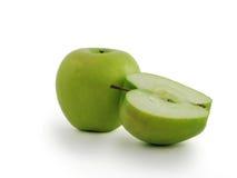 - zielony soczyste jabłko Obrazy Stock