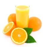 zielony sok opuszczać pomarańcze Obrazy Royalty Free
