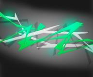 Zielony Spiky Abstrakcjonistyczny tło Fotografia Royalty Free