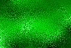 Zielony Srebny tło Metal folii dekoracyjna tekstura Fotografia Stock
