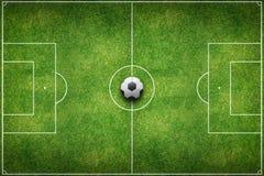 Zielony stadionu futbolowego pole Zdjęcie Stock