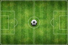 Zielony stadionu futbolowego pole Fotografia Stock