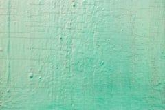 Zielony stary malujący cracky drewniany tło Obraz Royalty Free