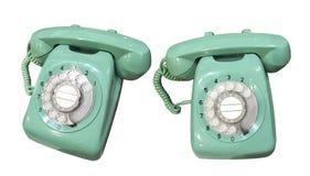 zielony stary telefon Obraz Royalty Free