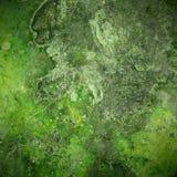 Zielony stary zrudziały metalu talerza tło zdjęcia royalty free