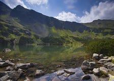 Zielony Staw. (Green Lake) in Dolina Gąsiennicowa in Tatra Mountains Royalty Free Stock Photography