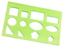 zielony stencil Zdjęcia Stock