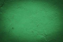 Zielony stiuk ściany tło lub tekstura Zdjęcia Royalty Free