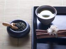 zielony stylowy herbaciany zen Obraz Royalty Free