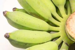 Zielony surowy cały banan Fotografia Stock