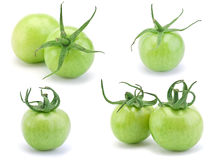 zielony surowy pomidor Zdjęcia Royalty Free