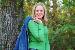 zielony sweter Zdjęcia Stock