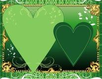 zielony szablon Zdjęcia Stock