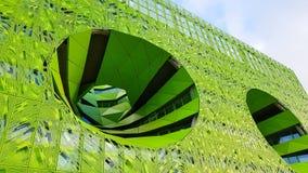 Zielony sześcianu budynek w zbieżność okręgu, Lion Zdjęcia Royalty Free