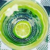 Zielony szkło Obrazy Royalty Free