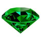 Zielony szmaragd odizolowywający na białym tle Obraz Royalty Free
