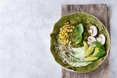 Zielony szpinaka tortilla Obraz Stock