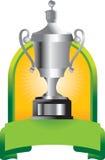 zielony sztandaru trofeum ilustracji