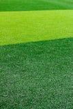 Zielony sztuczny trawy boisko do piłki nożnej dla tła Zdjęcie Royalty Free