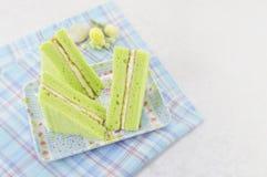 Zielony szyfonowy tort Zdjęcia Stock