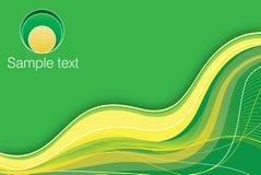 zielony tła kolor żółty Zdjęcie Stock