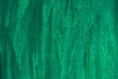 Zielony tło smarujący z muśnięciami, ścienna tekstura fotografia royalty free