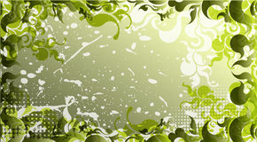 Zielony tło w grunge stylu Obraz Royalty Free