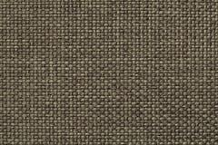 Zielony tło z galonowym w kratkę wzorem, zbliżenie Tekstura tkactwo tkanina, makro- Obraz Stock