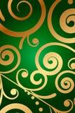 Zielony tło z kwiecistym ornamentem Obrazy Stock