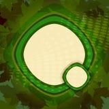 Zielony tło z liśćmi Zdjęcia Royalty Free