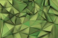 Zielony tło z zielonymi trójbokami w wibrującym składzie Zdjęcie Stock