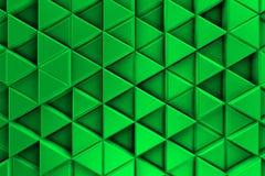 Zielony tło z kruszcowymi trójbokami i cieniami Zdjęcia Royalty Free