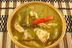 zielony tajski curry Zdjęcia Stock
