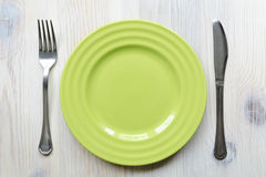 Zielony talerz zdjęcie stock