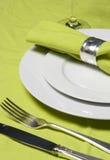 zielony talerz Zdjęcie Royalty Free