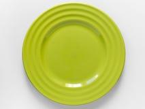 zielony talerz Obraz Stock