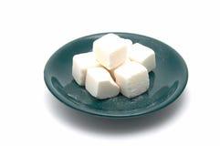 zielony talerz pokroić cukru Zdjęcia Stock