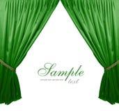 Zielony teatr zasłony tło Obrazy Royalty Free