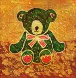 zielony teddy bear Zdjęcia Stock