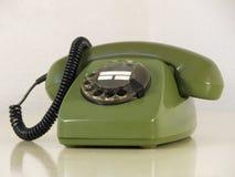 zielony telefon Fotografia Stock