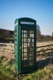 Zielony Telefoniczny pudełko, Fangdale Beck, Bilsdale, North Yorkshire obraz royalty free